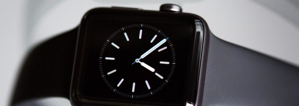 smart watch time header